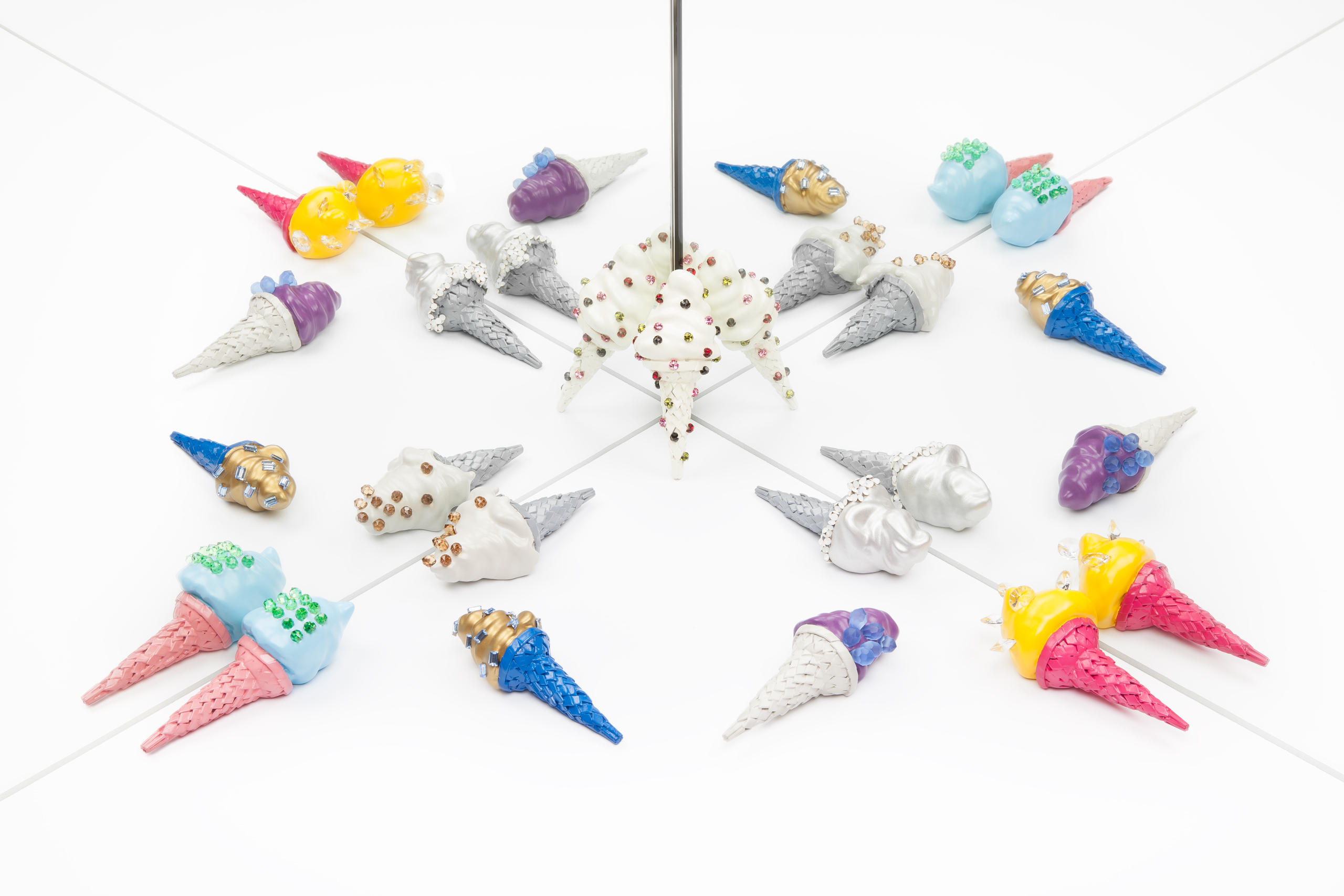 ice cream brooches collection