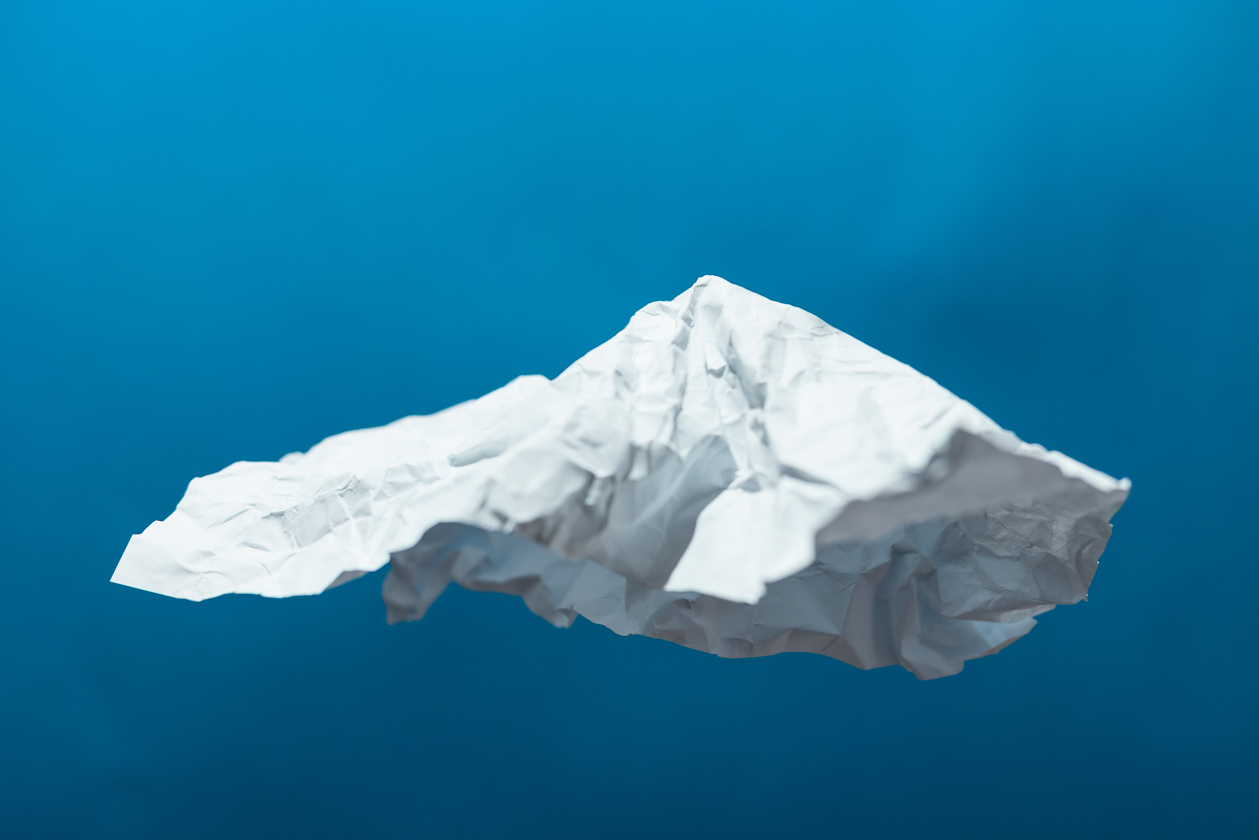 mountain made of paper sheet
