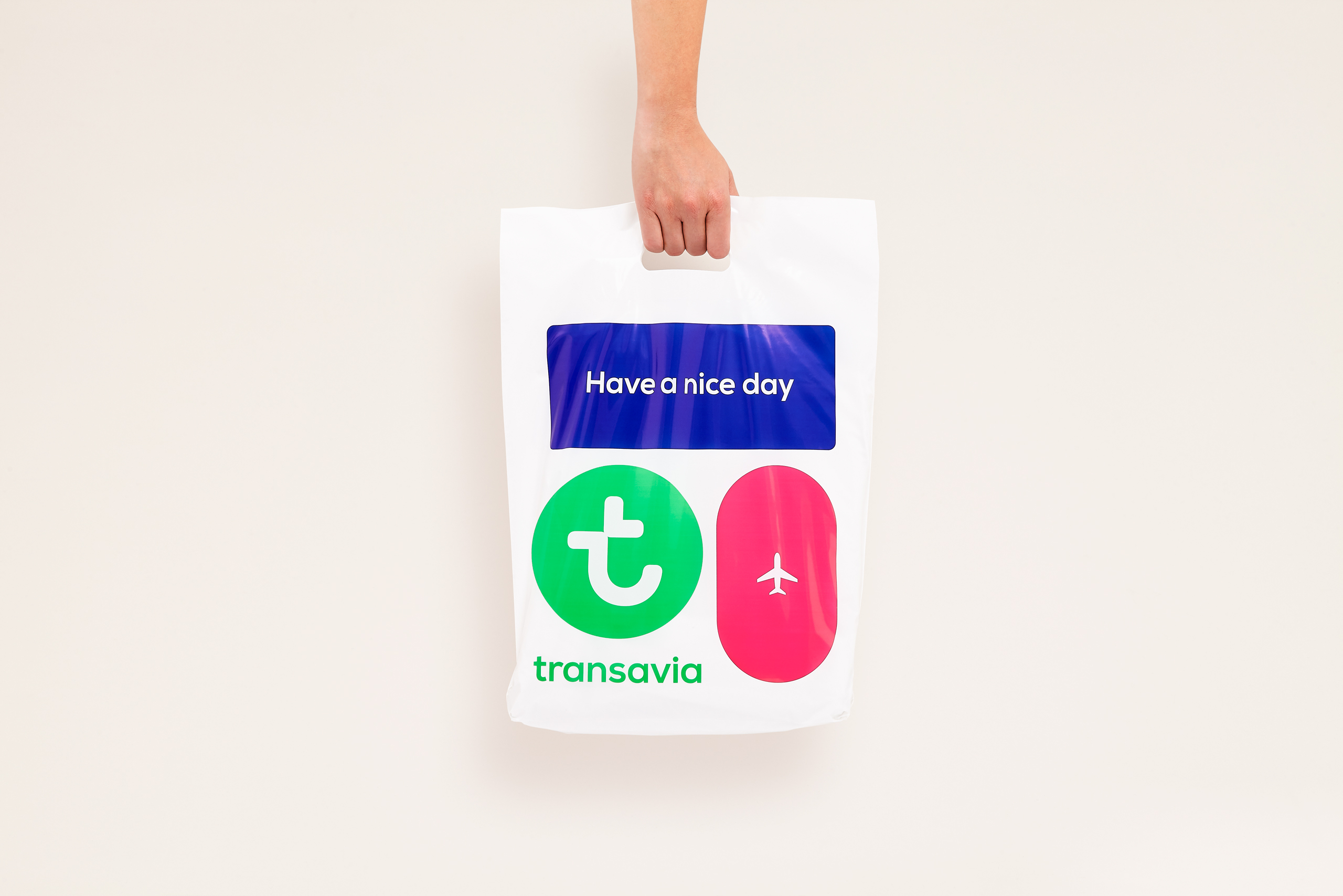 transavia have a nice day bag