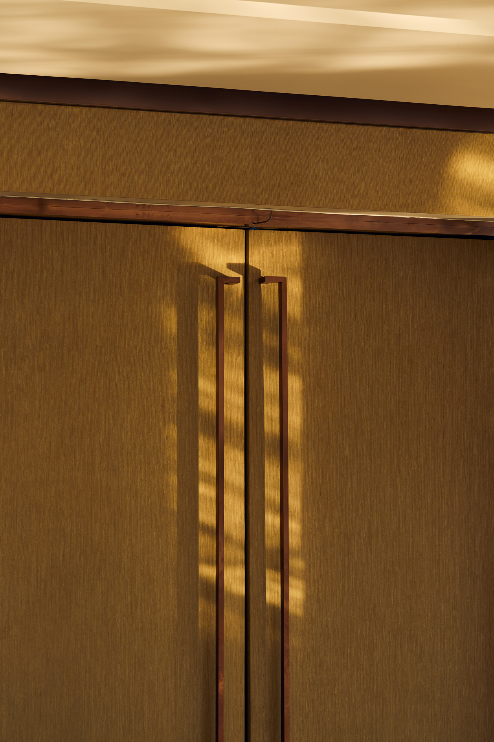 Sunlight on wooden doors