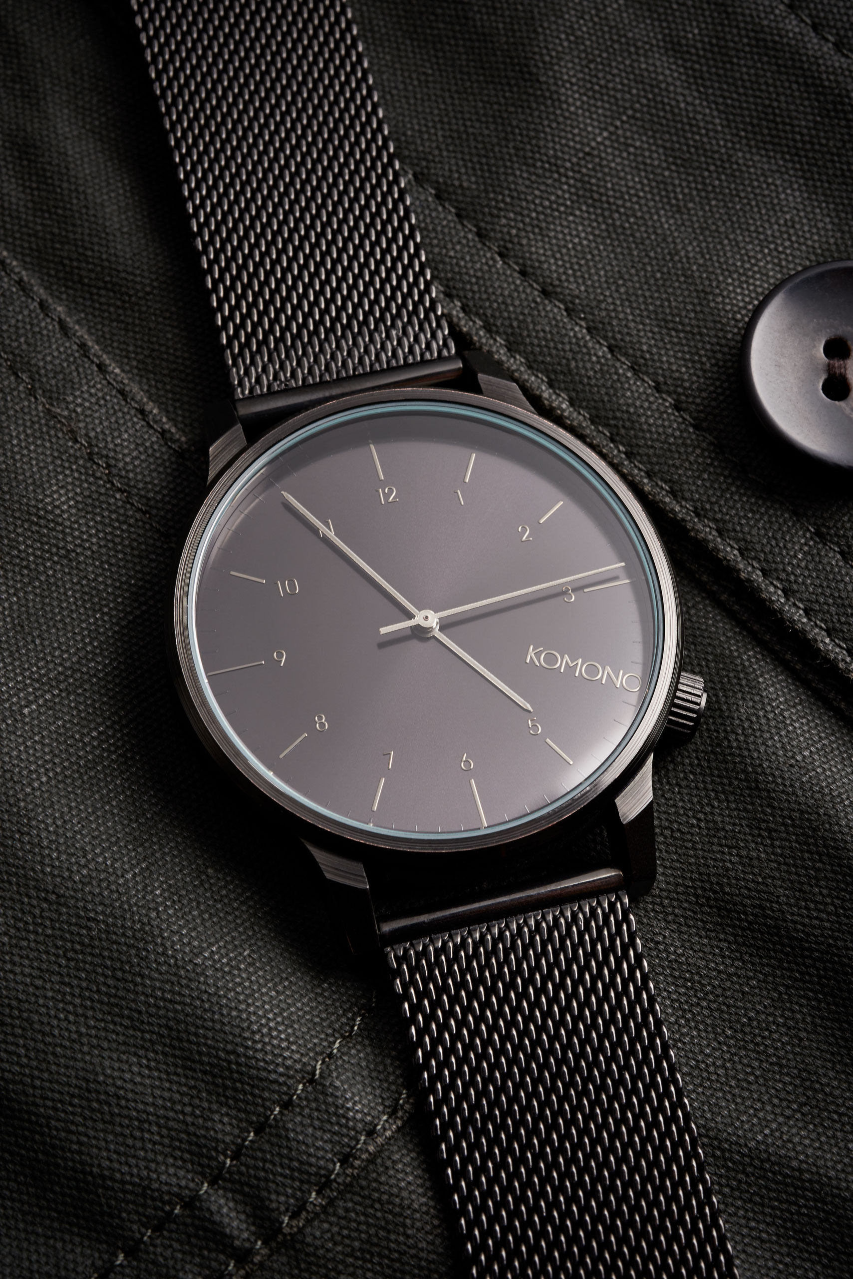 Komono watch on coat